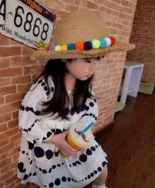 Princess Cart Big Brim Colour Ball Hat - Light Brown