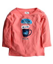 Zeezeezoo Main Mummy Ke Liye Kafi Hoon Printed T-Shirt - Peach
