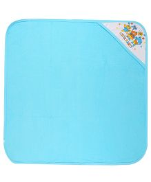 MomToBe Hooded Towel Little Party Print - Blue