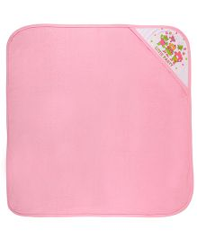 MomToBe Hooded Towel Little Party Print - Pink