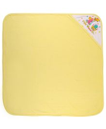 MomToBe Hooded Towel Fun N Funny Print - Yellow