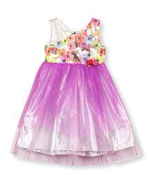 Barbie Asymmetric Party Wear Dress - Purple