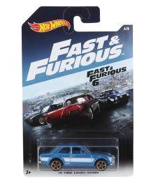 Hotwheels Car Fast & Furious Ford Escort RS 1600 - Teal Blue