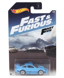 Hotwheels Toy Car Fast And Furious Porsche 911 GT3 - Blue