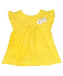 Soul Fairy Polka Dot Printed Dress - Yellow