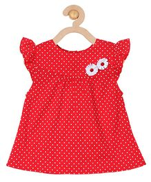 Soul Fairy Polka Dot Printed Dress - Red
