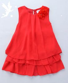 Soul Fairy Dress With Floral Lace - Coral