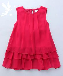 Soul Fairy Dress With Floral Lace - Fuchsia