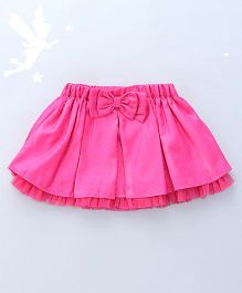 Soul Fairy Flared Skirt With Bow At Waist - Fuchsia