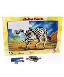 United Toys Zebra Jigsaw Puzzle Multicolor - 15 Pieces