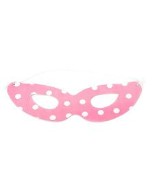 Karmallys Eye Mask Polka Dotted Print - Pink