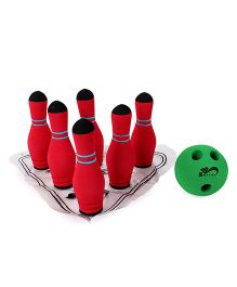 Safsof Mini Bowling Set - Red And Green