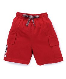 Fido Shorts With Cargo Style Pockets - Red