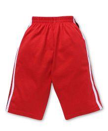 Fido Full Length Track Pants - Red