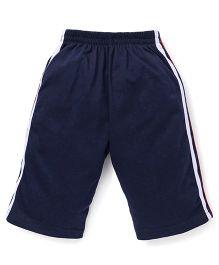 Fido Full Length Track Pants - Navy Blue