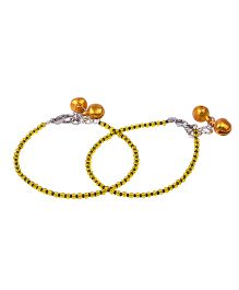 Carolz Jewelry Pair Of Anklets - Yellow