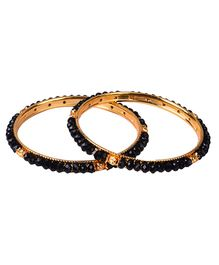 Carolz Jewelry Pair Of Bangles - Black