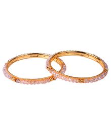 Carolz Jewelry Pair Of Bangles - Pink