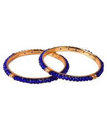 Carolz Jewelry Pair Of Bangles - Blue