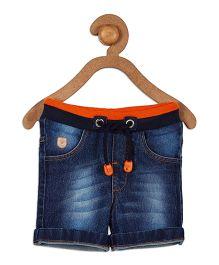 612 League Ribbed Waist Denim Shorts - Blue