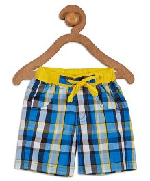 612 League Check Shorts With Drawstring - Blue