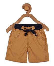 612 League Solid Color Shorts With Drawstring - Brown