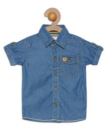 612 League Short Sleeves Denim Shirt - Blue
