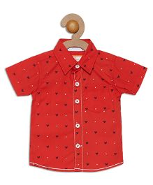 612 League Short Sleeves Shirt Bird Print - Red