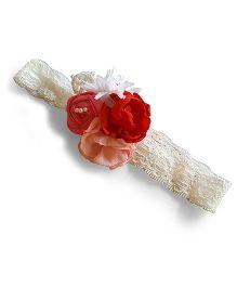 Soulfulsaai Rosette Design Headband - Pink
