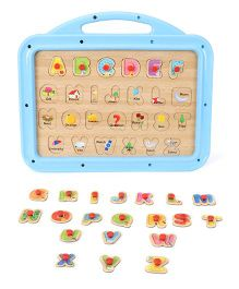 Funworld ABC Puzzle Slate Junior 2 In 1 - Blue