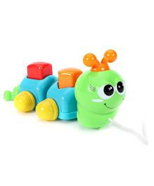 ABC Pull Along Caterpillar Toy - Orange And Blue