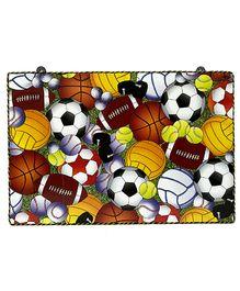 Li'll Pumpkins Balls Wooden Pin Board - Multi Colour