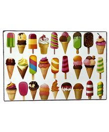 Li'll Pumpkins Icecream Wooden Laptable - Multi Colour