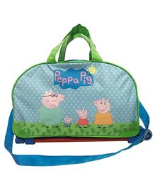 Li'll Pumpkins Cute Mini Pig Printed Trolley Bag - Aqua Blue