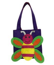 Li'll Pumpkins Honey Bee Applique Felt Tote Bag - Purple