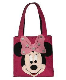 Li'll Pumpkins Charactar Applique Felt Tote Bag - Pink