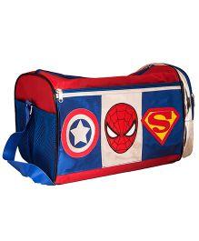 Li'll Pumpkins Charactar Applique Duffel Bag - Red & Blue