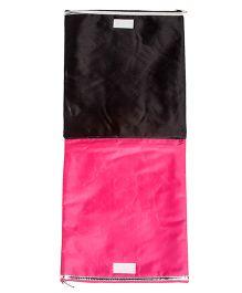 Li'll Pumpkins Eiffel Tower Applique Multipurpose Zip Pouch - Black & Pink