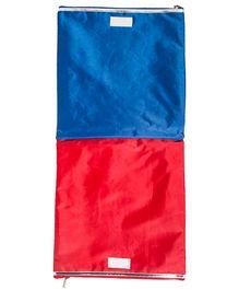 Li'll Pumpkins Mustache Applique Multipurpose Zip Pouch - Red & Blue