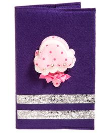 Li'll Pumpkins Ice Cream & Bow Applique Diary - Purple