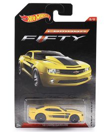 Hotwheels Toy Car 13 Copo Camaro FFTY - Yellow