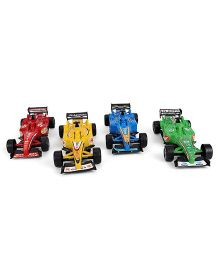 Classic Speed Set of 4 Toy Cars - Multi Color