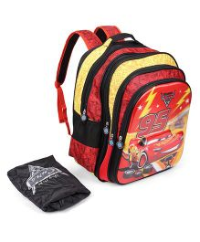 Disney Pixar Cars McQueen 95 School Bag Red Black - 18 inches