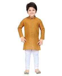 Shree Shubh Ethnic Kurta Pajama Set - Brown