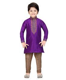 Shree Shubh Ethnic Kurta Pajama Set - Purple