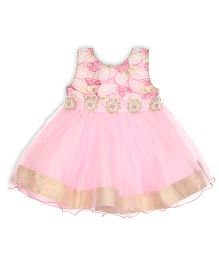 Aww Hunnie Semi Sequence Printed Dress - Pink