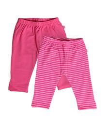 Buzzy Full Length Leggings Set Of 2 - Pink