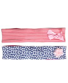 Buzzy Head Bands Printed Set Of 2 - Pink Navy