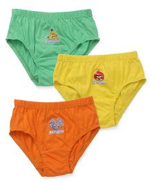Angry Birds Briefs Pack of 3 - Green Yellow Orange