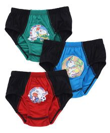 Doraemon Briefs With Print Set Of 3 - Black